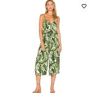 Show Me Your Mumu Margaux Jumpsuit Tropical Leaf M